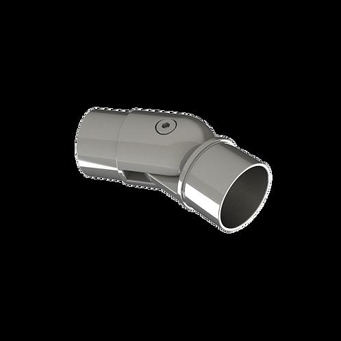 Отвод шарнирный для трубы Ø42,4*1,5 мм., угол от 90° до 180°