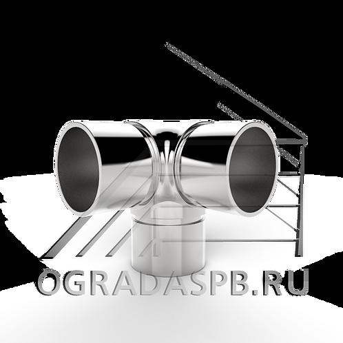 Угловой элемент 90° для трубы Ø38*1,5 мм.  материал: AISI 304