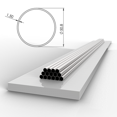 Труба 50,8х1,5 мм. Длина 6000 мм. Материал: AISI 201 зеркало