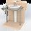 Thumbnail: Поручень для раковины напольно-настенный диаметром 32мм aisi201