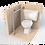 Thumbnail: Опорный поручень для туалетной кабины, комнаты. Диаметр 32мм AISI304