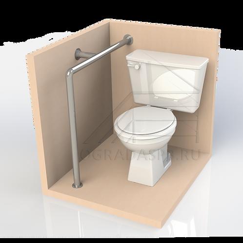 Опорный поручень для туалетной кабины, комнаты. Диаметр 32мм AISI304
