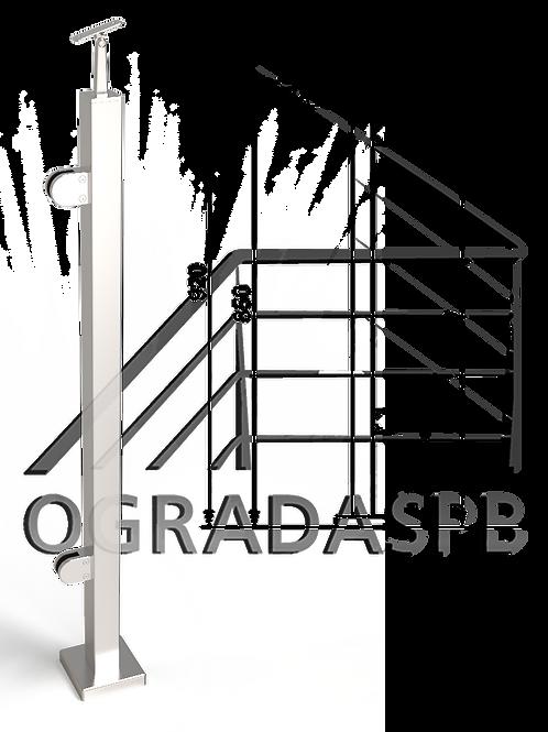 Стойка в сборе под стекло 40*40мм AISI304