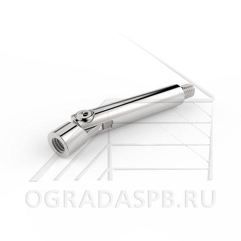 Регулируемый палец держателя поручня, резьба М6/М8, материал: AISI 304