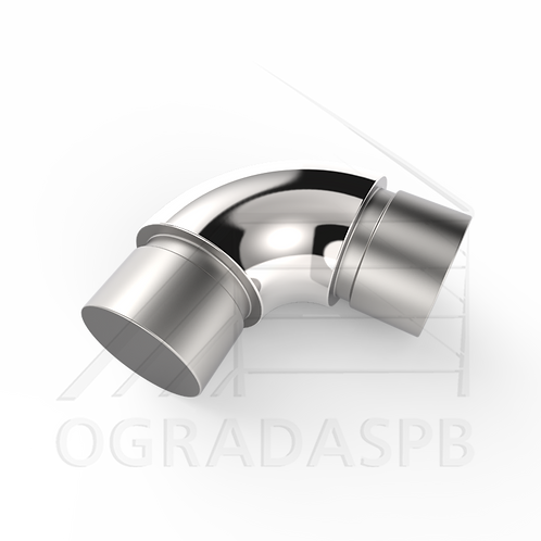 Отвод круглый, угол 90° для трубы Ø16*1 мм. материал: AISI 304