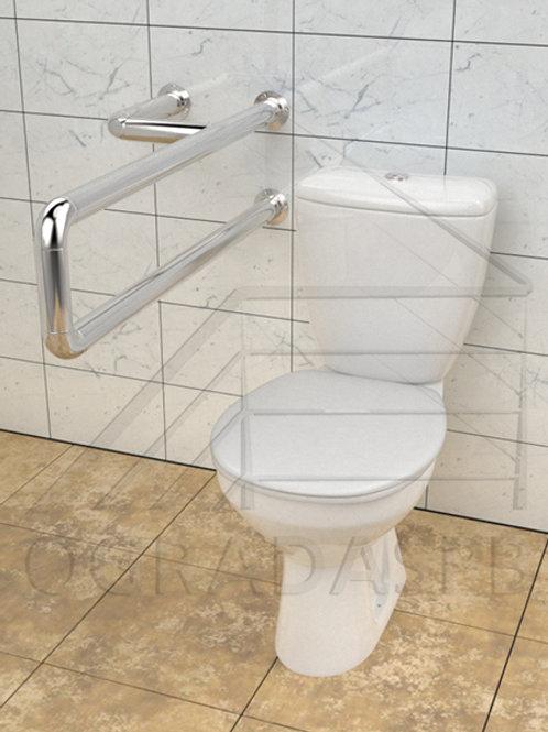 Поручень для туалета настенный нержавеющая сталь AISI304