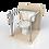 Thumbnail: Опорный поручень для туалетной кабины, комнаты диаметром 32мм AISI201