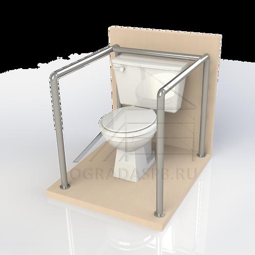 Опорный поручень для туалетной кабины, комнаты диаметром 32мм AISI201