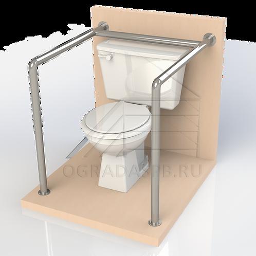 Опорный поручень для туалетной кабины, комнаты диаметром 32мм AISI304
