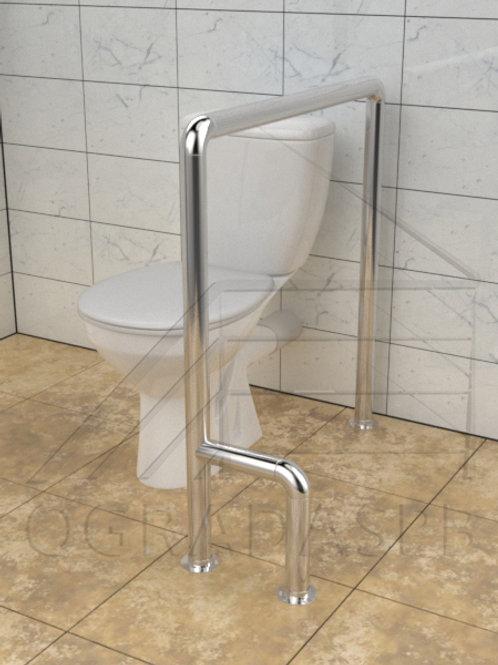 Поручень для туалета  боковой напольный AISI304