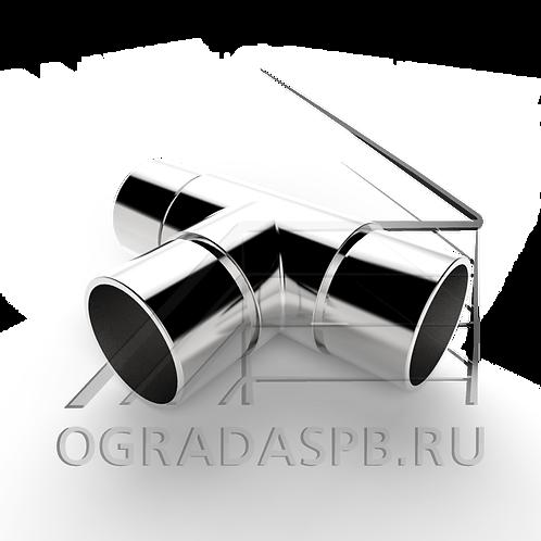 Тройник для трубы Ø38*1,5 мм.  материал: AISI 304
