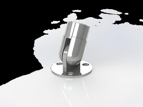 Крепление поручня к стене регулируемое, угол от 90° до 180° для трубы Ø42,4*1,5