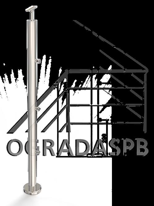 Стойка в сборе под заполнение 2 леерами d50,8мм  AISI 304