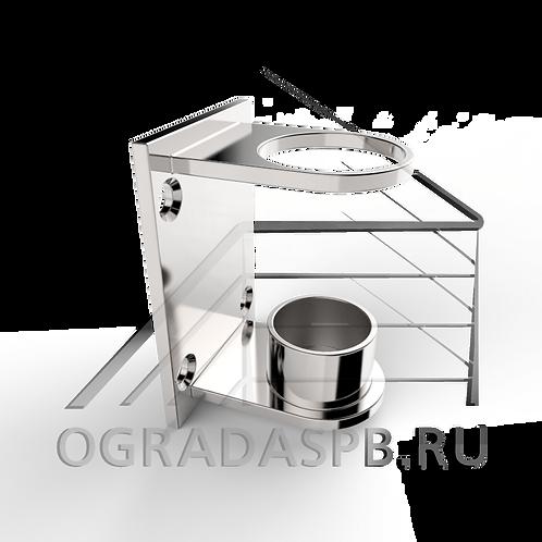Боковой держатель стойки Ø42,4 мм, материал: AISI 304