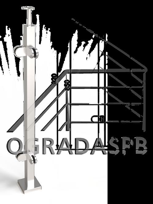 Стойка угловая в сборе под стекло 40*40мм AISI304