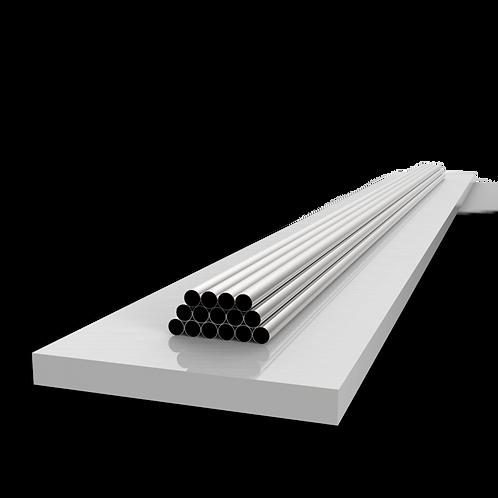Труба 42,4х2 мм. Длина 6000 мм. Материал: AISI 201 зеркало