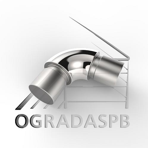 Отвод круглый, угол 90° для трубы Ø12*1 мм. материал: AISI 304