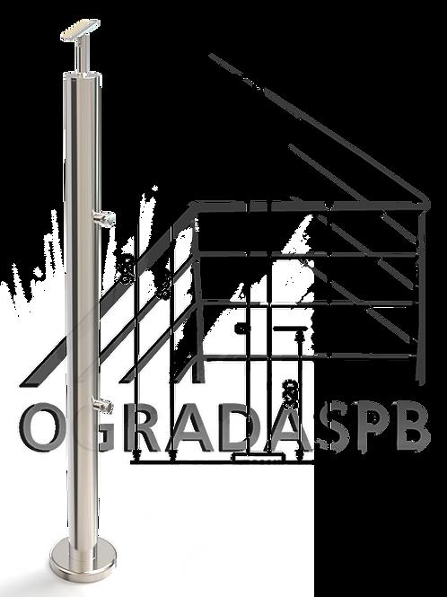 Стойка в сборе d50,8 мм под заполнение 2 леерами AISI304 зеркало