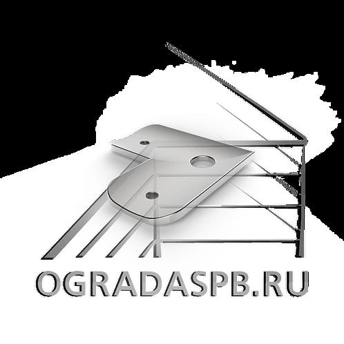 Ложемент угловой для трубы  Ø50,8 мм. материал: AISI 304