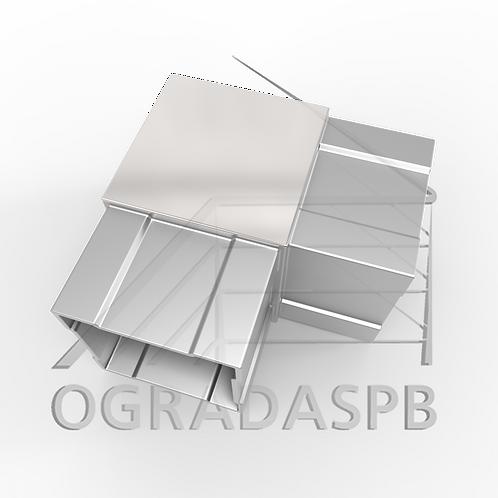 Отвод остроугольный, угол 90° для трубы 40*40*1,5 мм.  материал: AISI 304