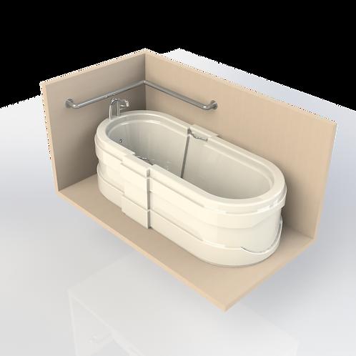 Поручень настенный для ванной диаметром 42,4мм