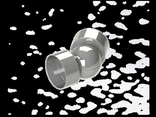 Отвод шарнирный  для деревянного поручня Ø49 мм