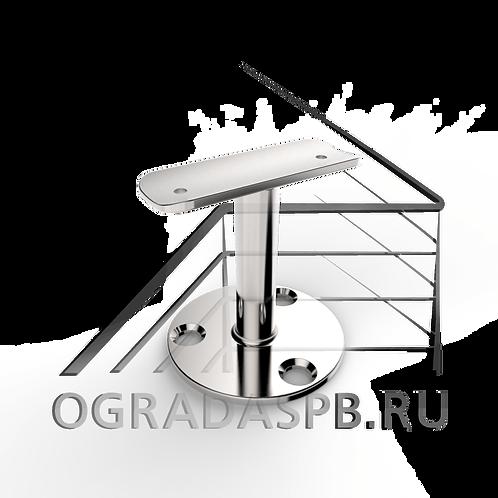Крепление поручня нерегулируемое для трубы Ø50,8 мм. материал: AISI 304