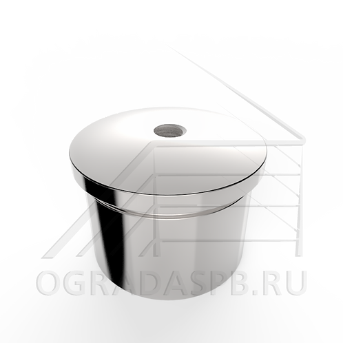 Торцевой колпачок на стойку Ø42,4 мм. материал: AISI 304