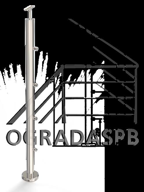 Стойка в сборе под заполнение 4 леерами d50,8мм  AISI 304