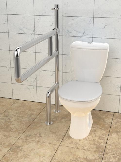 Поручень для туалета настенно-настенный откидной нержавеющая сталь AISI304