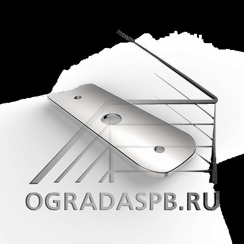 Ложемент для трубы  Ø42,4 мм. материал: AISI 304