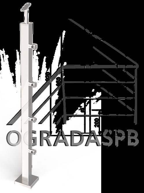 Стойка в сборе 40*40мм под заполнение 4 леерами AISI304