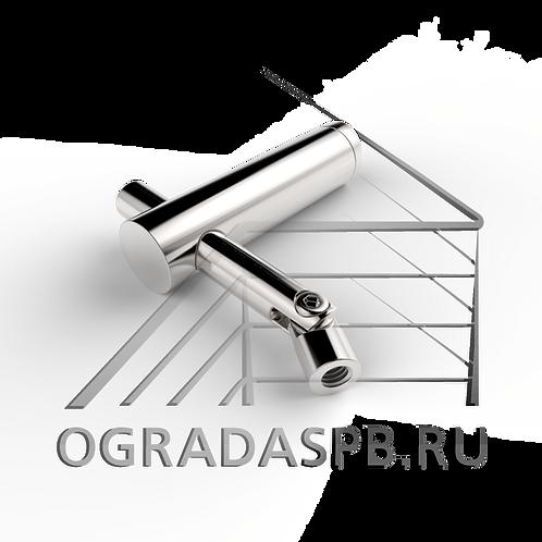 Держатель поручня боковой без ложемента для стойки Ø42,4 мм.  материал: AISI 304