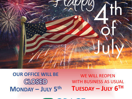 Office Closed In Observance of Independence Day