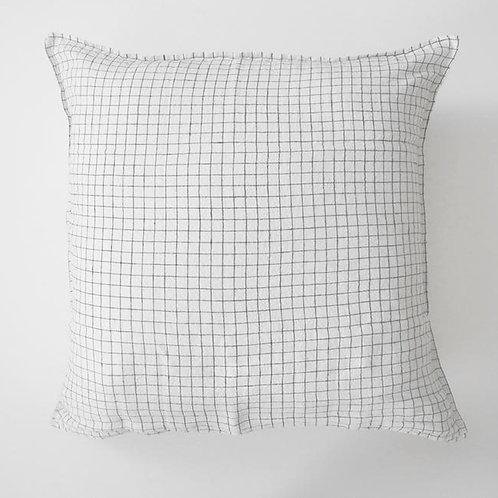 Pillowcase White & Black Checks