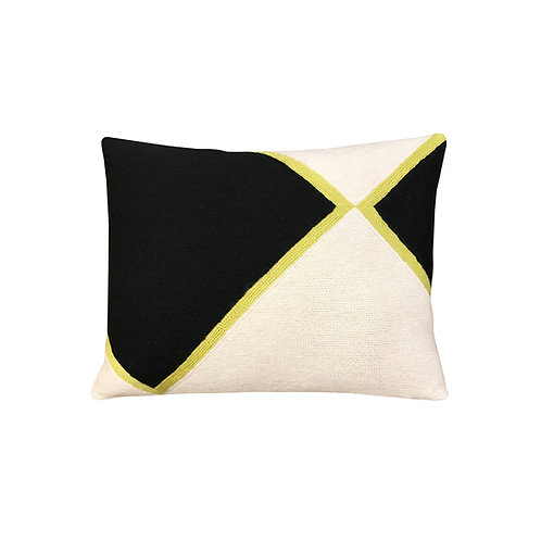 Iwani II Black Embroidered Cushion Lindell & Co. chain stitch luxury interior Karybu shop online