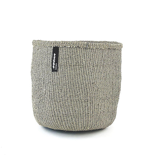 Mifuko One Colour Basket Kiondo Small Light Grey Luxury interior accessories natural Karybu concept store shop online
