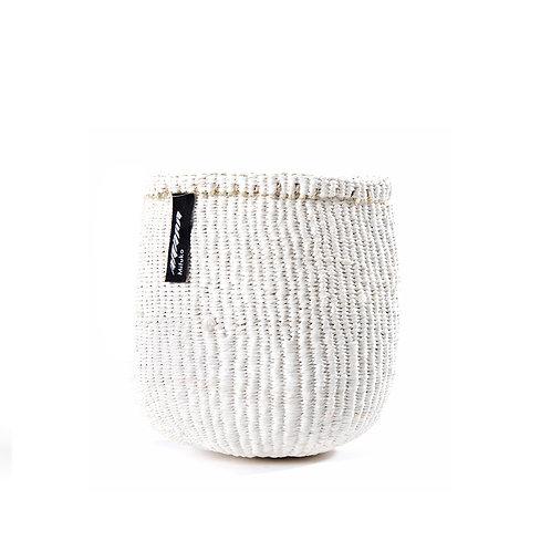 Mifuko One Colour Basket Kiondo Extra Small White Luxury interior accessories natural Karybu concept store shop online
