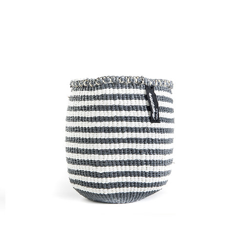 Mifuko Thin Stripes Basket Kiondo Extra Small Grey Luxury interior accessories natural Karybu concept store shop online