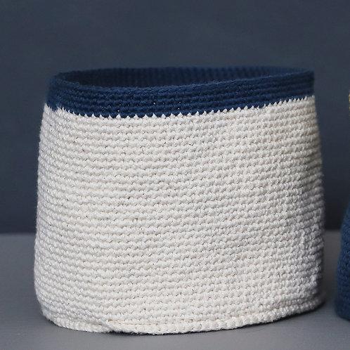 Crochet Vessel Medium Dark Blue
