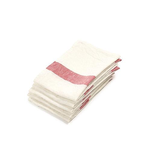 Porticcio Tea-towel 70x70cm Red Libeco luxury interior belgian linen shop online karybu