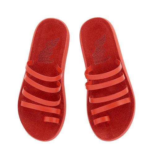 Niki Comfort Sandals Red Ancient Greek sandals karybu shop online luxury fashion