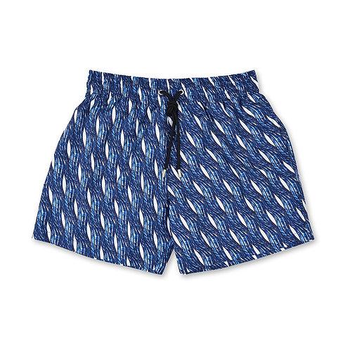 Vagues Marine Blue Swim Shorts Apnée luxury swimwear men karybu shop online
