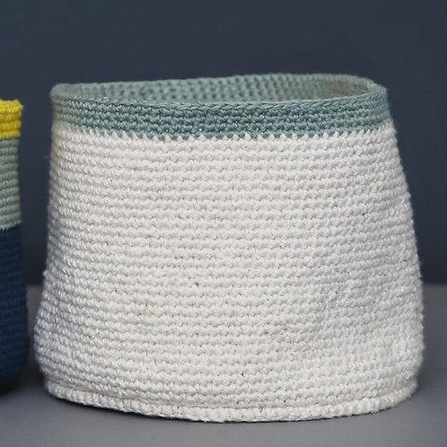 Crochet Vessel Medium Grey
