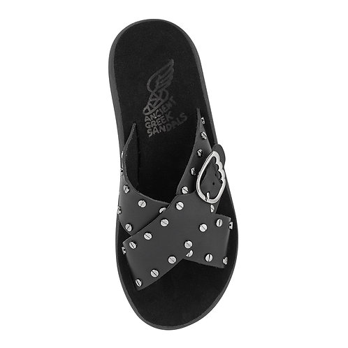 Pella Nails Comfort Sandals Black Ancient Greek sandals karybu shop online luxury fashion