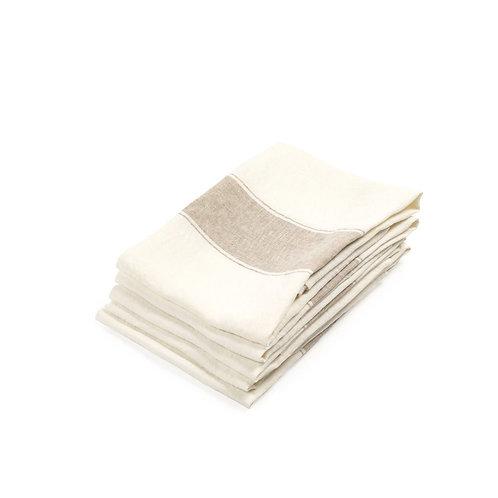 Ajaccio Tea-towel 70x70cm Atene luxury interior belgian linen shop online karybu