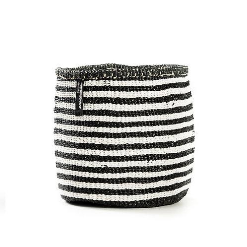Mifuko Thin Stripes Basket Kiondo Small Black Luxury interior accessories natural Karybu concept store shop online