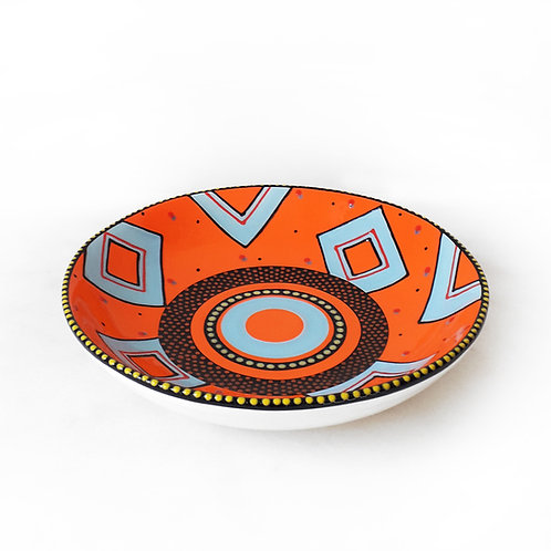 Fruit Bowl Orange-Blue hand-painted karybu shop online ceramics African design kitchenware kitchen accessories