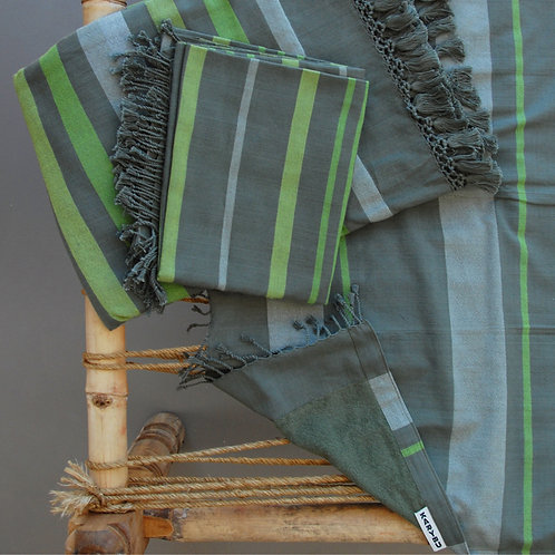 Handwoven Beach Towel Green