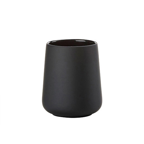 Zone Nova One Toothbrush Mug, Black bath accessories luxury interior furniture tinos karybu shop online